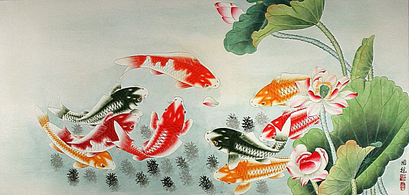 Gbp euro canadian aus for Chinese art koi fish