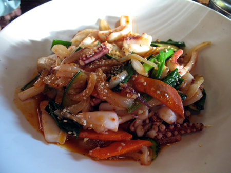 spicey stir fried squid